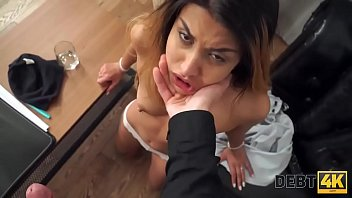 Debt4k. Sex with hot vixen with sexy tattoo and slender body is the perfect payment