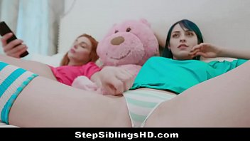 Hot Thot Sisters Get Horny For Sex & Stepbro Joins Them