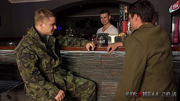 Gay russian military boys Military treesome with jirka, ivan and gabo