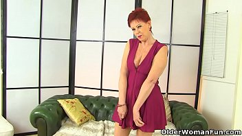 English granny Sensual Caroline plays with her old fanny