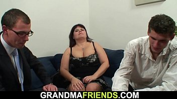 Big boobs fatty threesome
