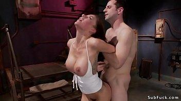 Big tits petite cutie in bondage sex