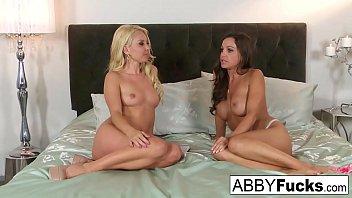 Aaliyah Love interviews Abigail Mac then watches her masturbate!
