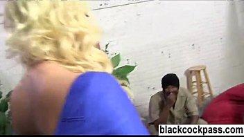 Blonde slut wants huge niggers to violate her