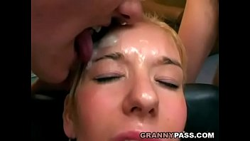 Granny Eats Cum From A Teen'_s Face