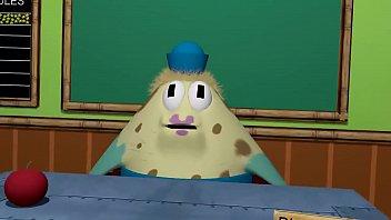 Hentai spongebob Trío entre patricio estrella, bob esponja y señora puff, sexo en la autoescuela