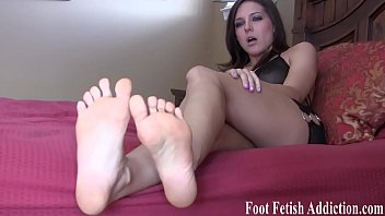 Cover my cute little feet with your cum