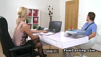 Czech female agent fucks British guy in casting