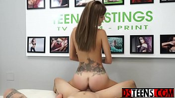 Brutal casting to a desperate brunette teen Dakota Vixen