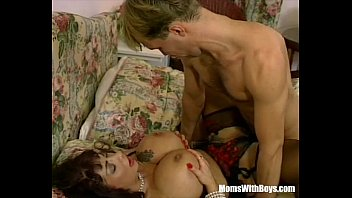 Mature huge breasts Milf brunette with massive tits fucked in sexy lingerie