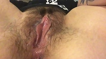 My cunt hair - Rub my hairy clit and get my fingers wet