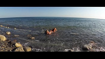 Beach bikini blog Travel show ass driver - sasha bikeeva in russia. black sea, wild beaches