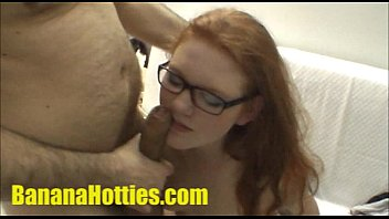 Amateur petting Redhead artist at her first casting
