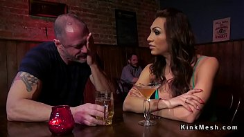 Tranny wife punishes husband in bar