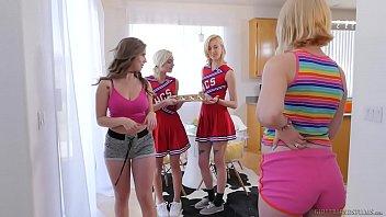 Cumshot cheerleader sample Lesbian cheerleaders make special cookies - eliza jane, lena paul