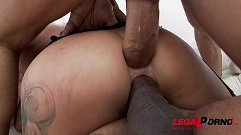 Ex-Gymnast slut Katrin Tequila extreme anal fucking with DP &amp_ double vaginal