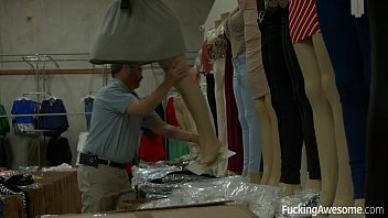 Blonde teen Summer Day gets fucked in the warehouse 8 min