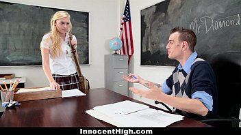 Student gets fucked by teacher - Innocenthigh - blonde schoolgirl fucked hard by her prof