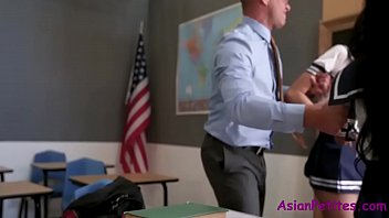 Old Teacher Fucks Two Asian Students- Ember Snow And Eva Yi