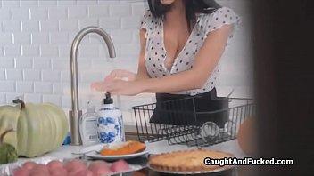 Banging Big Tit Wife Next Door In The Kitchen