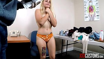XXXCUSTOMS - Officer Blackmails Tiny Blonde Teen