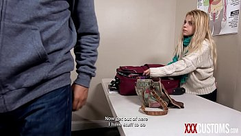 Strip search fuck - Xxxcustoms - officer blackmails tiny blonde teen