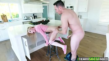 Cute teen Kenzie Reeves gives a sloppy blowjob!