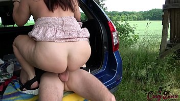 German amateur tests new car with hard fuck