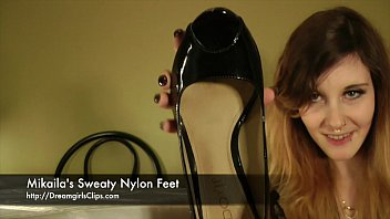 Mikaila's Sweaty Nylon Feet - www.clips4sale.com/8983/15623122