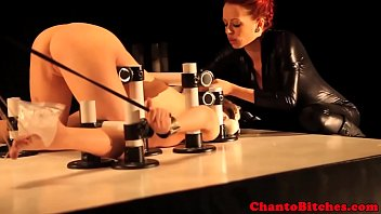 Streaming Video Redhead bdsm lezdom bondage punishes sub - XLXX.video