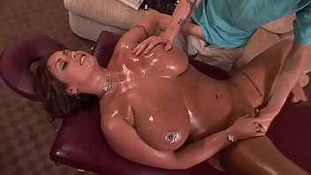 Chad makes a beautiful Spanish horny cock slides between her big tits