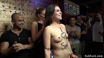 American slut tourist disgraces herself