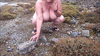 chubby mature outdoor video