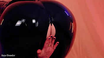 wet pussy curvy girl wearing shiny tight latex leather clothes and having fun in rubber dresses