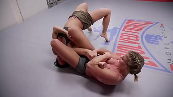 Ariel X vs Sheena Wrestler in girl against girl wrestling Trailer
