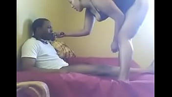 5524767 black mistress fucking a dildo on his face