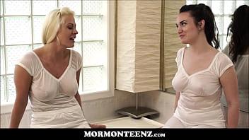 Hot Mormon Lesbian MILF Fucks Her Teen Mormon Sister Wife To Orgasms