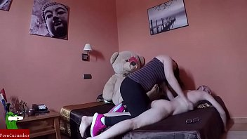 Teddy bear pussy Eating penis with teddy bear cri032