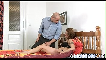 Mommy satisfies her starving cunt
