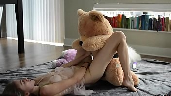 Vintage cuddle toy teddy bear - Teen fucks teddy bear