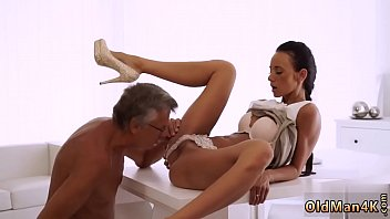 Arab old man Finally she's got her manager dick