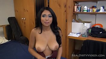 Amateur Latina Slut Alicia Takes on First Big Cock on Camera