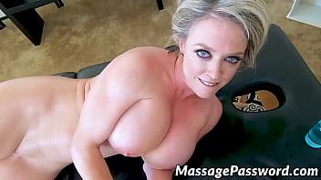 Tattooed Hottie Dee Williams Milks Big Cock After Massage