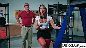 (August Ames) Naughty Slut Big Tits Girl Get Nailed In Office vid-04