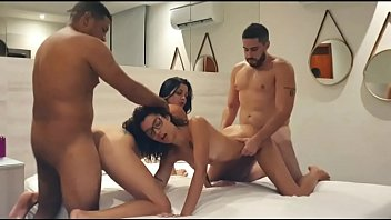 Aysla Andrade, Leo ogre, Jr Doidera and Me in a hot amateur foursome at the motel in rio de janeiro