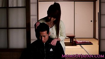 Mature Japanese Hitomi Tanaka titty fuck
