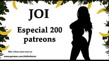 Jerk off audio Joi especial 200 patreons, 200 corridas. audio en español.