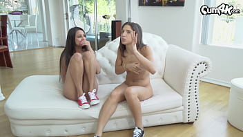 Two hot Latina lesbians get caught by step-brother...he joins in a cums multiple times in each of them (Abella Danger / Eliza Ibarra)