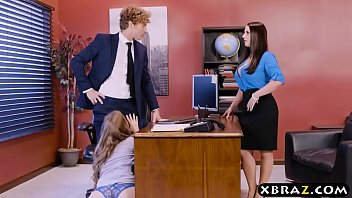 Sexy white male - Office threesome with two bosses and a sexy employee