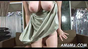 Mature mommy sex tube Bitchy mama rides like a pro